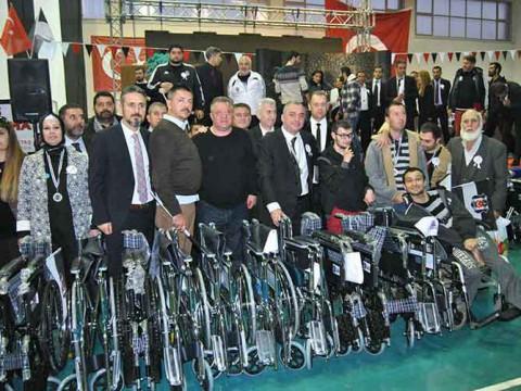 ismail kaptan ödemiş tekerlekli sandalye yardımı ve uyuşturucuya hayır etkinliği