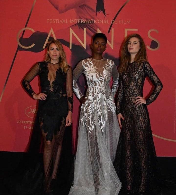 cannes film festivalinde kumaşlarımızı tercih eden dünya starlarına ve modacı zeynep kartal hnm a teşekkür ederiz