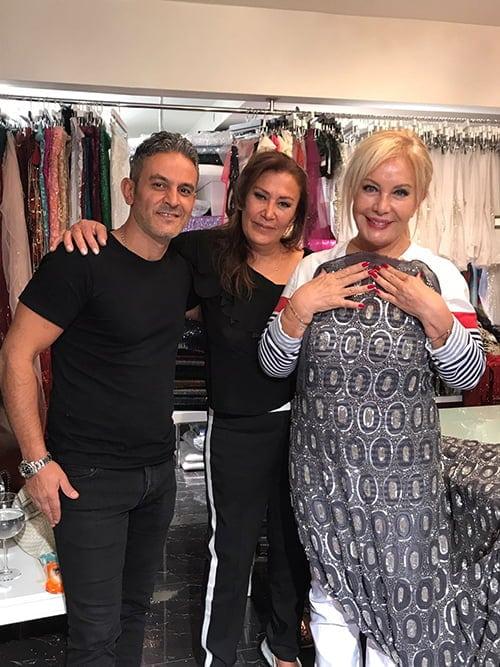 Kaptan International Textile kumaşlarını tercih ettiği için değerli Emel Sayın hanımefendiye ve modacısı Şehriban İpek hanımefendiye teşekkür ederiz.